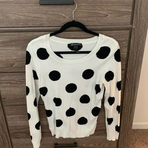 INC international concepts black and white sweater